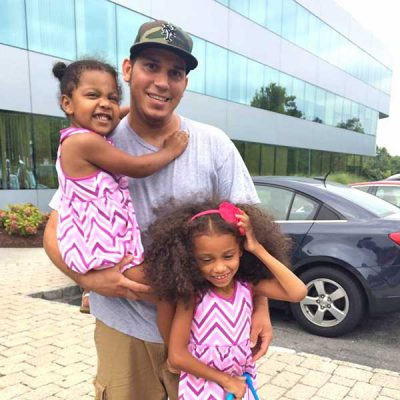 Carlos and his two daughters